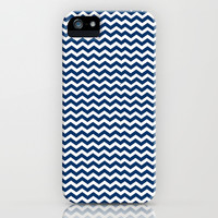 Chevron Pattern Blue iPhone & iPod Case by productoslocos