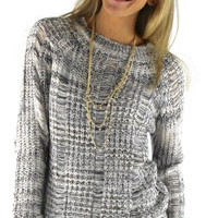Loose Knit Cozy Sweater - Heather Gray | .H.C.B.