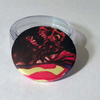 Comic Book 1.5 Button// Zombie Superman