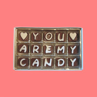 You Are My Candy Cubic Chocolate Letters