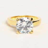 RHINESTONE SOLITAIRE RING