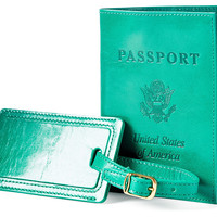Passport/Luggage Tag Combo, Sea Green