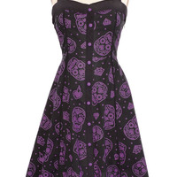 Sugary Spook Retro Halter Dress