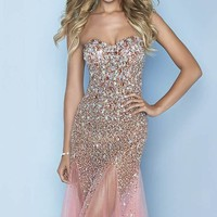 Embellished Sweetheart Gown by Splash by Landa Designs