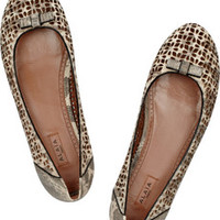 Alaïa Laser-cut tegu ballet flats – 50% at THE OUTNET.COM