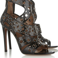 Alaïa Studded cutout leather sandals – 55% at THE OUTNET.COM