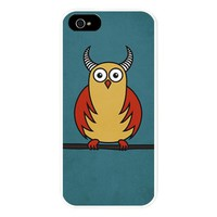 Funny Cartoon Owl With Horns iPhone 5/5S Snap Case