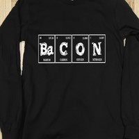 Skreened Bacon Periodic Table LS Tee