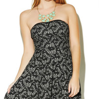 Jacquard Detail Tube Dress | Wet Seal