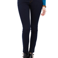 HIGH WAIST BUTTON SKINNY