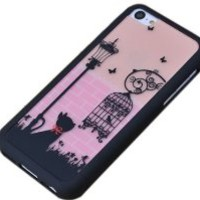 Gosear Cat And Bird Cage Style Fashion Fancy Luxury Hard PC Protective Case Cover for iPhone 5C