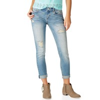 NEW! KYLIE BOYFRIEND DESTROYED LIGHT WASH JEAN