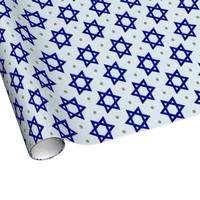 Star of David Hanukkah Gift Wrap