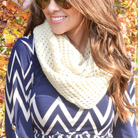 Warm Me Over Scarf: Cream