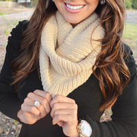 Sweet Nothings Scarf: Tan