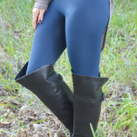 Softest Leggings Ever: Blue