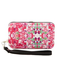 Watercolor Floral Cell Wristlet