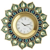 Peacock Gem Clock