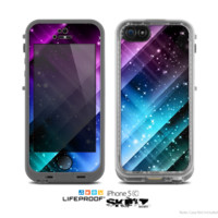 The Neon Glow Paint Skin for the Apple iPhone 5c LifeProof Case