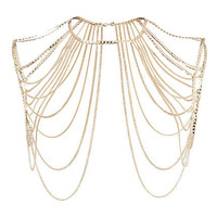 GOLD TONE CHAIN BODY HARNESS
