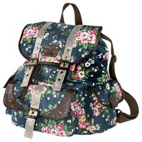 Mossimo Supply Co. Floral Print Backpack - Blue