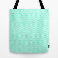 Chevron Mint Green Print Tote Bag by productoslocos