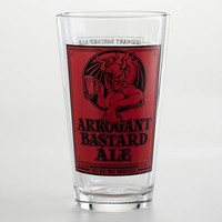 Arrogant Bastard Pint Glasses, Set of 2