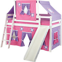 Pink Cottage Loft Bed w Slide