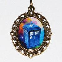 Police Box Pendant Necklace