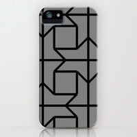Merging Lines - Grey  iPhone & iPod Case by Lauren Lee Designs