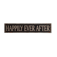 Distressed Happily Ever After Sign
