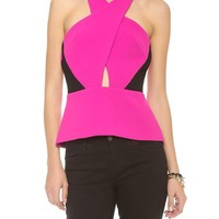 Chroma Colorblock Peplum Top