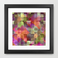 CHECKED DESIGN II-v4 Framed Art Print by Pia Schneider [atelier COLOUR-VISION]