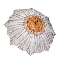 Galleria White Daisy Stick Umbrella