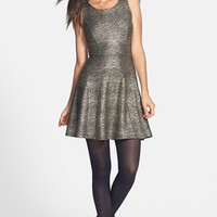 Soprano Glitter Skater Dress (Juniors) | Nordstrom