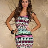 Fashion new hot pretty geometric patchwork party Casual sexy dress XS-M A137