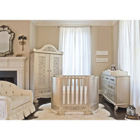 Chelsea Darling Cradle to Crib in Antique Silver