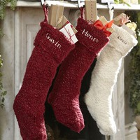 CHUNKY KNIT METALLIC STOCKING