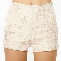 Gold Blush Jacquard Tap Shorts