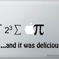 Halloween Sale - Apple Equation Macbook Decal - Mac Decal - Laptop Sticker - Mac Sitcker - Math Decal