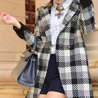 Standout Plaid Coat