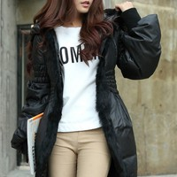 Rabbit Fur Hooded Down Coat