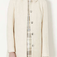 WOOL SKIRTED COAT