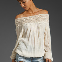 Jen's Pirate Booty Paradise Cove Off Shoulder Top in Natural