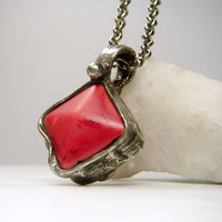 Jewelry by AMW - Red Howlite Stone Necklace