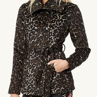 Animal Print Pea Coat