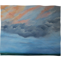 Rosie Brown And Then It Rained Fleece Throw Blanket