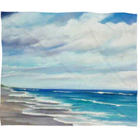 Rosie Brown Beach 1 Fleece Throw Blanket