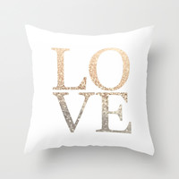 *** GATSBY GOLD LOVE  *** Throw Pillow by Monika Strigel