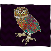 Sharon Turner Little Brother Owl Fleece Throw Blanket
